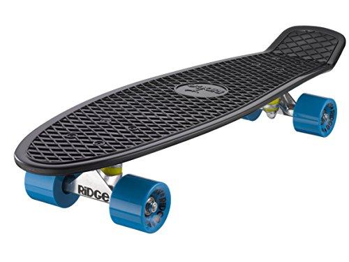 Ridge Skateboard Big Brother Nickel 69 cm Mini Cruiser, schwarz /blau