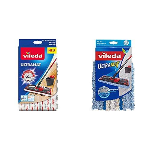 Vileda UltraMat, 10919, Ersatzbezug für saubere und streifenfreie Böden, Mehrfarbig + Ultramat Bezug mit Schlingen und Kraftfasern, 1 Stück