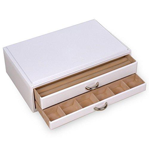 SACHER Vario - Anillas de Piel (Hechas a Mano), Color Blanco