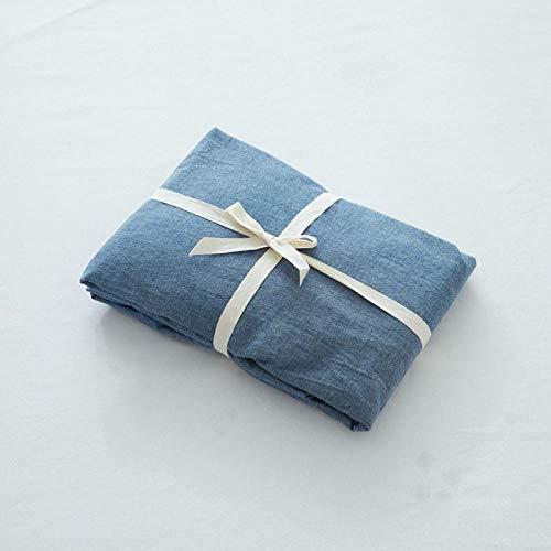Nuoxuan Atmungsaktiv Spannbetttuch,Bettwäsche aus gewaschener Baumwolle, einfarbige...