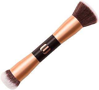 Lurrose Double Ended Pincéis de Maquiagem As Mulheres Blush Em Pó Solto Escova Cosmética Ferramenta para a Mistura de Líqu...