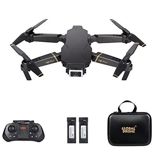 Goolsky RC Drone con videocamera 4K Modalit¡§¡è flusso ottico Doppia videocamera Auto Evita ostacolo Volo Sensore di gravit¡§¡è Modalit¡§¡è senza testa Flip 3D Quadricottero RC per adulti Bambini