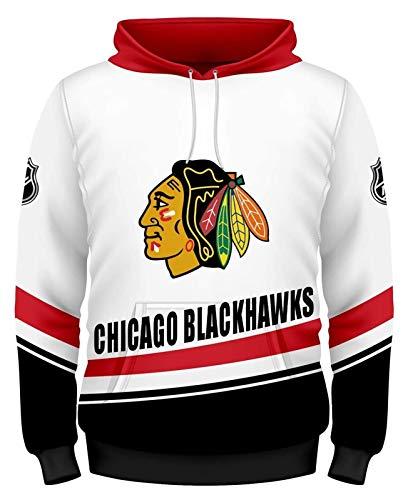 YIMINGss NHL Hoodie Pullover Sweatshirt Trikot Los Angeles Könige/Pittsburgh Penguins/Tampa Bay Lightning/Chicago Blackhawks Langarm Feldhockey Kleidung Kapuzenpullover Jersey (Color : 3, Size : M)