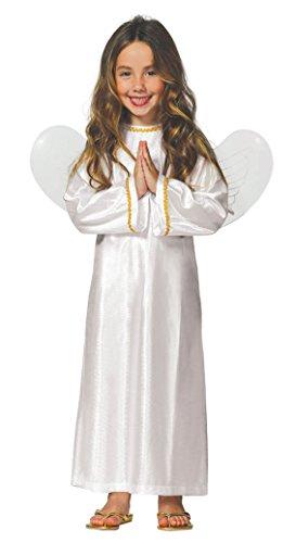 Guirca- Disfraz infantil de Ángel, Color blanco, 3-4 años (42607.0)