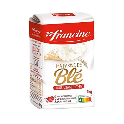 FRANCINE - Farine De Blé T45 Le 1Kg - Lot De 4 - Vendu Par Lot