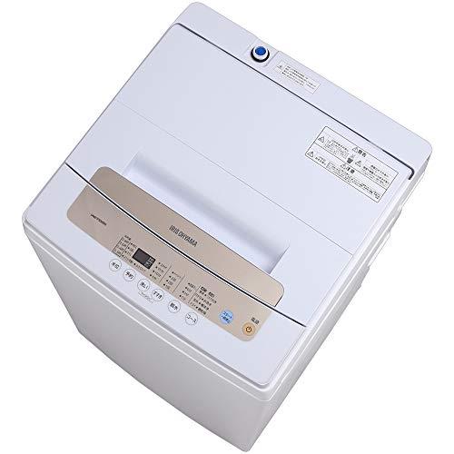 アイリスオーヤマ 洗濯機 5kg 全自動 風乾燥 お急ぎコース ステンレス槽 ゴールド IAW-T502EN