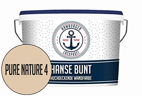 Hanse Wandfarbe Pure Nature 4 matt Beige Innenfarbe Dispersionsfarbe HOCHDECKEND & GERUCHSARM (5 L)