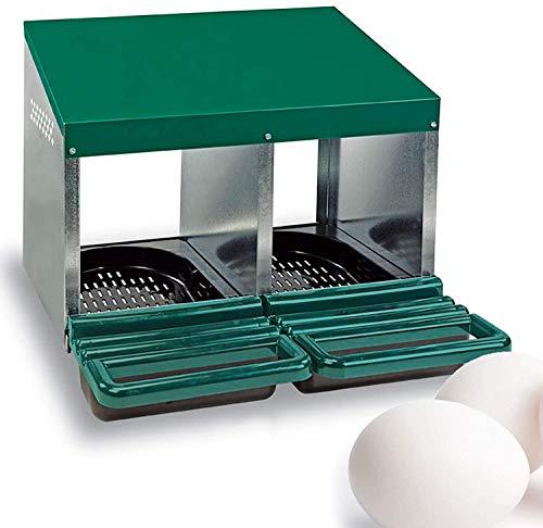 buenos comparativa Marcapáginas FINCA CASAREJO para gallina + 2 huevos duros de regalo.  Nido ecológico de 2 agujeros y opiniones de 2021