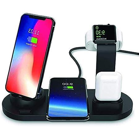 【本日最終日】KOYO スマホ2台(1台Qiワイヤレス)/AppleWatch/Airpodsの4台同時充電対応充電スタンド 1,949円送料無料!
