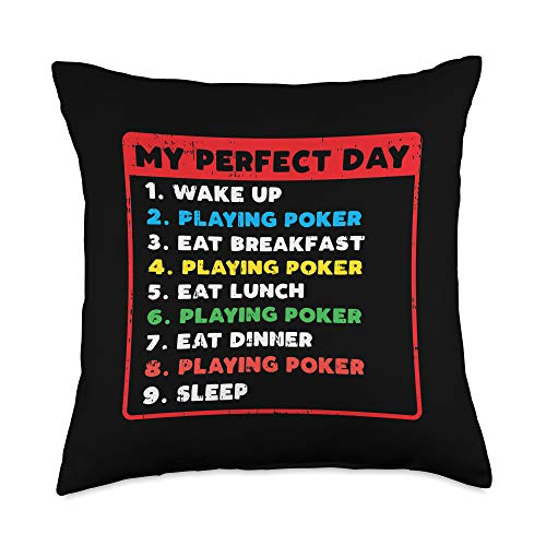 Poker Throw Pillow Covers