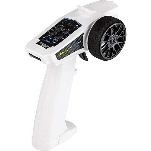 Carson 500500103 - Reflex Wheel Start 2.4G Radio, Modellbau, Zubehör, Fernsteuerung, Empfänger, 3 Kanal, Tamiya KIT kompatibel, Weiss