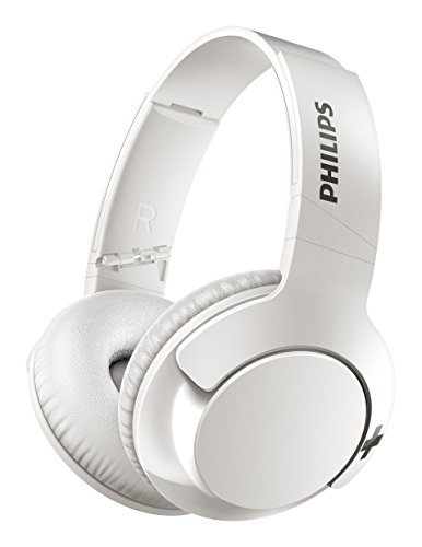 Philips Bass+ SHB3175WT - Auriculares inalambricos...