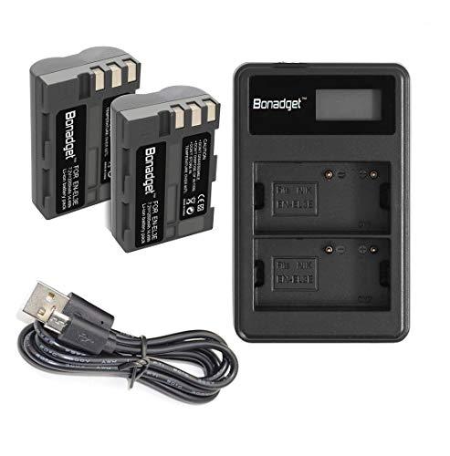 Bonadget 2 Pack 2000mAh EN-EL3 EN-EL3A Replacement Battery and LCD Dual Charger Compatible with Nikon D700 D90 D300S D300 D200 D80 D50 D70S D70 D100 D900 Digital Cameras