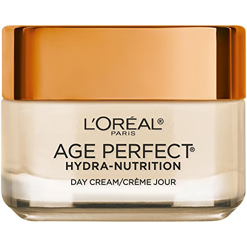 L'Oreal Paris Skincare Age Perfect Hydra-Nutrition Day Cream with Manuka Honey Extract and Nurturing Oils, Anti-Aging Cream to Firm and Improve Elasticity on Dry Skin, 1.7 oz.