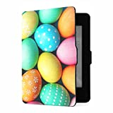 Custodia Kindle Paperwhite 1 2 3, Custodia in pelle PU con uova di Pasqua colorate con Smart Auto Wake Sleep per Amazon Kindle Paperwhite (compatibile con le versioni 2012, 2013, 2015)