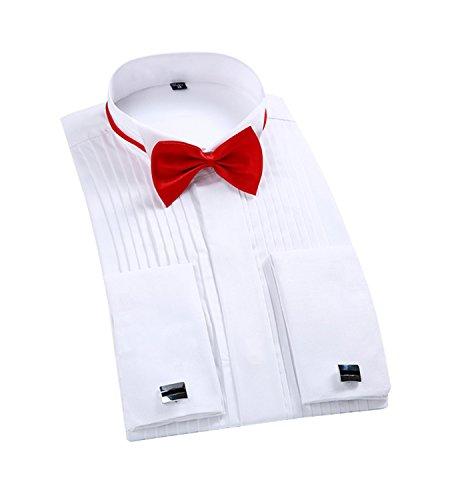 Smokinghemd Herren Hemd kläppchenkragen Slim modern Regular fit Dinner Abendkleidung