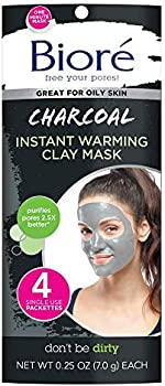 4-Count Biore Charcoal Instant Warming Clay Mask