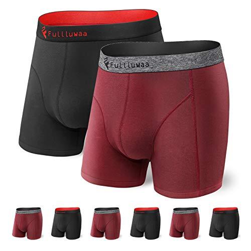 Fullluwaa Boxershorts Herren, 6er Pack Unterhosen Männer Retroshorts Boxer Baumwolle Men Unterwäsche Geeignet für Sport Täglich Outdoor 6 Pack- S, M, L, XL, XXL, XXXL