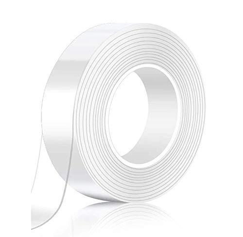 ナノテクノロジー両面テープ 超強力多機能テープ 魔法テープ のり残らず はがせるテープ とうめい 防水する 洗濯で繰り返し利用可能 滑り止めテープ 耐熱 粘着マット家庭 オフィス 寮 学校 会社 工業用 屋内 屋外 車輛用(5mx3cmx2mm)