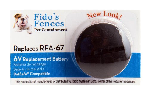 Fido's Fences 10-Pack Compatible RFA-67 Replacement Battery for PetSafe Products