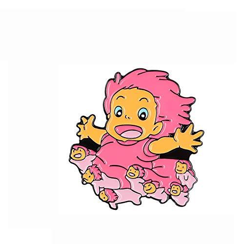 Lindo Anime aullidos Dibujos Animados Solapa Pin Iconos Insignia en la Mochila Brooch Figura Juguetes Regalo para los Fans Kids Girl