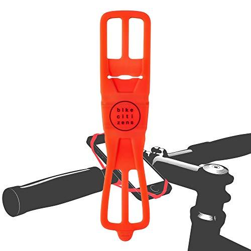 Bike Citizens Finn - Die universelle Smartphone Halterung für jedes Fahrrad und jedes Handy! Mit Fahrrad Navigation - Handy Halter für das Fahrrad, MTB oder Rennrad (Rot)