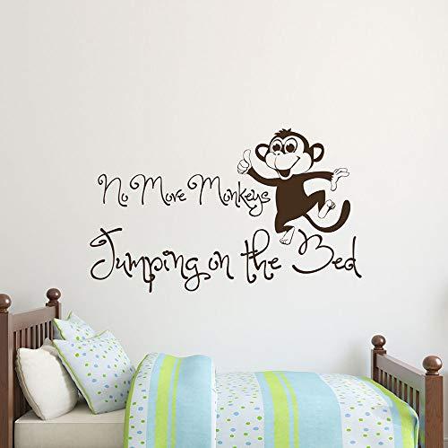 Ajcwhml Kunst Wandaufkleber Nicht mehr AFFE Zitate Applique AFFE Vinyl Text Wandtattoo Kind Kindergarten Tapete Ziemlich Wandhauptdekor