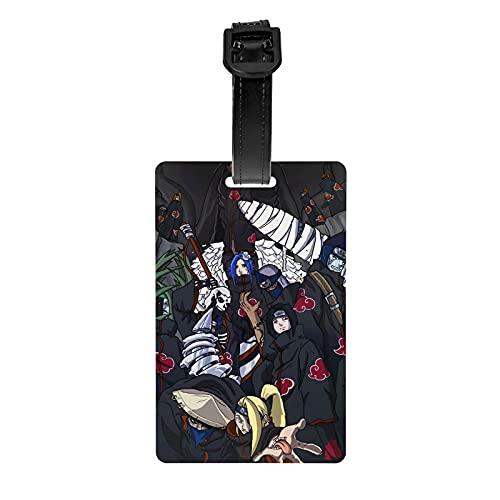 Tarjetas de PVC para mujer y niños, interesante, etiqueta personalizada, para bolsas de deporte, tarjeta de nombre, pulsera negra