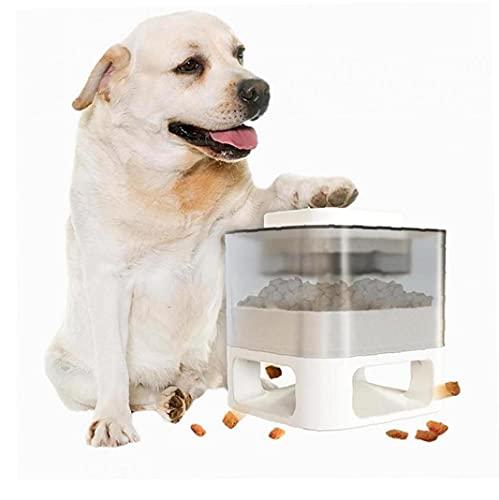 Alimentador automático de perros, alimentador de perros Dispensador de alimentos Dog Dispensador de alimentos Interior de disparador Rompecabezas de perro Rompecabezas Dispensando TOYS COMADEADOR