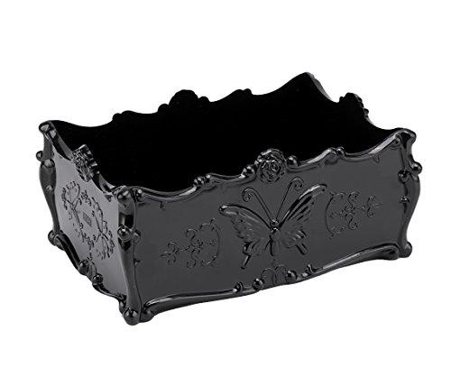 Windspeed Makeup Organizers, Vintage Style Acrylic Cosmekeup Organizer Drawer Storage Jewellery Box Holder (Black)