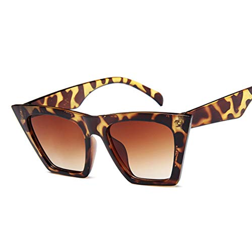 BAYSU Gafas de Sol Femeninas Vintage Gafas de Sol Mujeres Moda Ojo de Gato Gafas de Sol de Lujo Classic Compras Lady Negro UV400 Gafas de Sol (Lenses Color : Leopard)