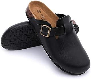 Seranoma Women's Upper Felt Clog   Soft Footed Footbed   Anti Slip   Indoor & Outdoor Use  Slip On