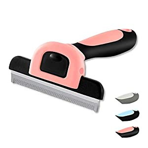 WePet Cat Dog Shedding Tool, Pet Deshedding Brush, Professional Grooming for Short Medium Long Hair Cats and Dogs, Effectively Reduce Shedding by Up to 95%, Brick & Black