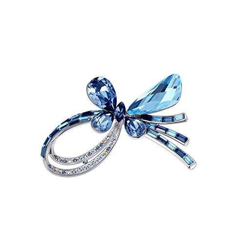 ZWSHOP - Broche de lazo de temperamento para mujer, broche para cárdiga, hebilla de seda para bufanda, accesorios a juego (color: azul)