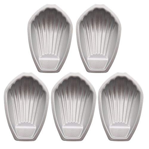 Miaison Madeleine-Backform in Muschelform, aus schwerem Kohlenstoff, antihaftbeschichtet, 5 Stück