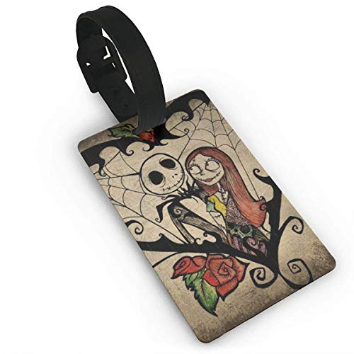 Jack and Sally Nightmare Before Christmas (10) Luggage Tags Suitcase Carry-Onid Travel Id Baggage Tag