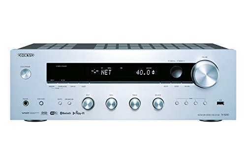 Onkyo TX-8250(S) Stereo Receiver (Hifi Verstärker 135 W/Kanal, Multiroom, WLAN, Bluetooth, Streaming, Musik Apps (Spotify, Tidal, Deezer), DAB+, Front USB/Audio in), Silber