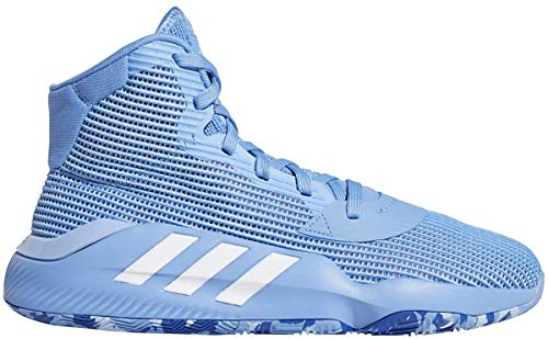 adidas Pro Bounce 2019 Shoe - Men's Basketball Light Blue/White/Glow Blue