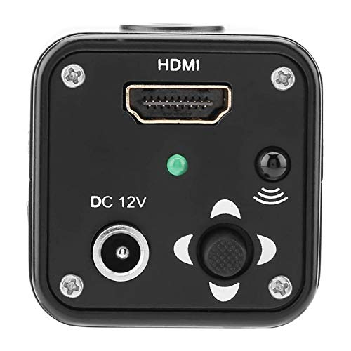 High Resolution HDMI Output Industry Microscope Microscope Camera DC5-12V Black 60F/S 1080P for Industry lab(US Standard 110V)