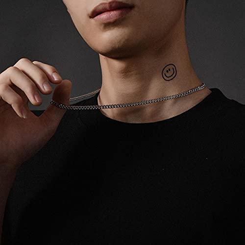 WQZYY&ASDCD Collar De Mujer Collar Italiano De Plata Esterlina 925 Collar Cubano Suave Y Cómodo-55Cm4N