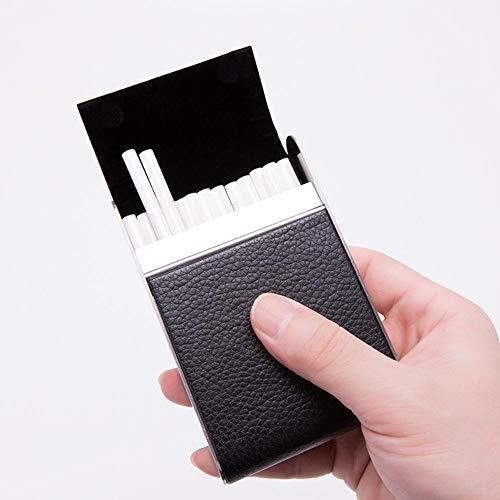 Sutinna Tiroirs de Rangement en Plastique pour Stockage des Aliments Accessoires pour Cigarettes Tenir 20 Cigarettes Fumeur en Acier Inoxydable pour étui à cigares pour Femmes,(Black)