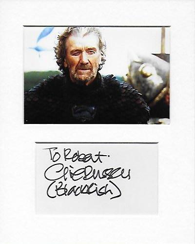 brynden Tully–Clive Russell mano original y auténtico firmado autógrafo AFTAL COA
