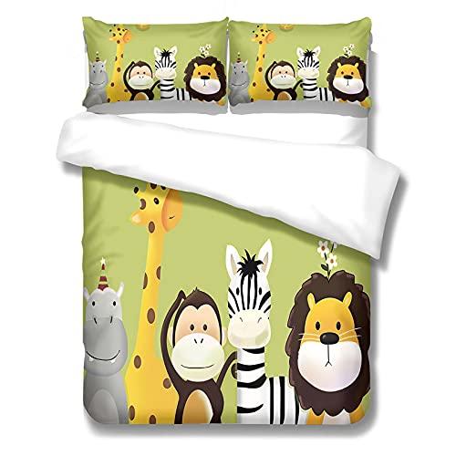 El Juego De 3 Piezas De Funda Nórdica Impresa Con Dibujos Animados Para El Dormitorio De Los Niños Es Adecuado Para El Dormitorio, Ropa De Cama De Dormitorio 2 Fundas De Almohada 1 Funda Nórdica