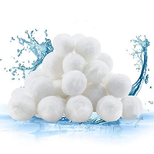 Filter Balls Fibra de Filtro de Bola Alternative para Filtro de Arena Bolas de Filtro de Piscina Alta Permeabilidad Al Agua para Bomba de Filtro Piscina Filtro de Arena de Acuario—Blanco (700 g)