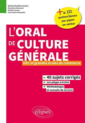 Loral De Culture Generale Hec Et Grandes Ecoles De Commerce