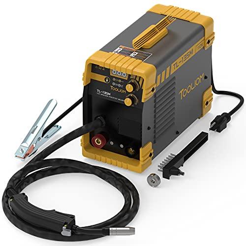 TOOLIOM 135A MIG Welder 110V Flux MIG/Lift TIG/Stick 3-in-1 Weding Machine IGBT DC Inverter