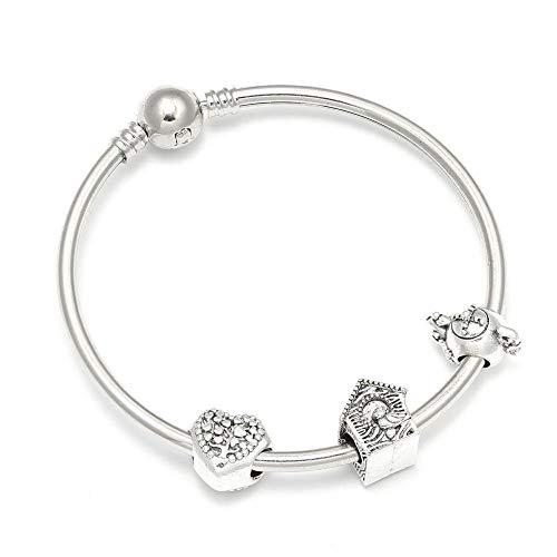 YIYYI HQXIZ Armband Nieuwe Diy Bedel Armbanden Met Liefde Hart Theepot Huis Kralen Merk Armband Voor Vrouwen Kinderen Sieraden