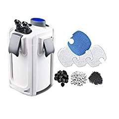 5-Stage Aquarium canister filters at a Great hobby-friendly Value, 525GPH Integrated 9W UV sterilization to eradicate unwanted algae and harmful disease causing pathogens Provides quiet, efficient filtration for fresh and Saltwater aquariums 4 Large ...