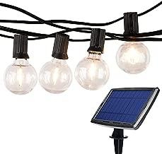 Lightdot Led Solar String Lights Outdoor, 48FT G40 Globe Patio Lights with 16Pcs Bulbs(1 Spare), E12 Base Dusk to Dawn Waterproof Cafe Lights for Porch, Pergola, Backyard, Deck, Garden, Pool
