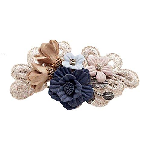 Français Hair Style Barrettes Barrette Tissu bowknot fleur cheveux arc à la main